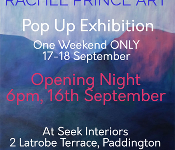 Pop Up Exhibition. One Weekend Only. Opening Night 6pm 16th September. 2 La Trobe Terrace, Paddington 4064